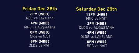 NAIT NvS Schedule