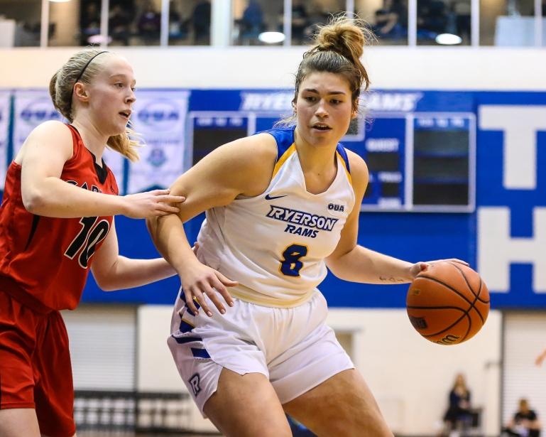 2018 Ontario University Athletics Women's Basketball Regular Season Game Action between the Ryerson Rams and the Carleton Ravens.